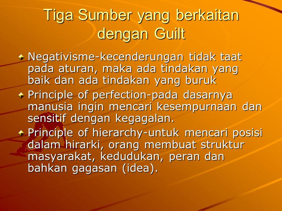 Tiga Sumber yang berkaitan dengan Guilt