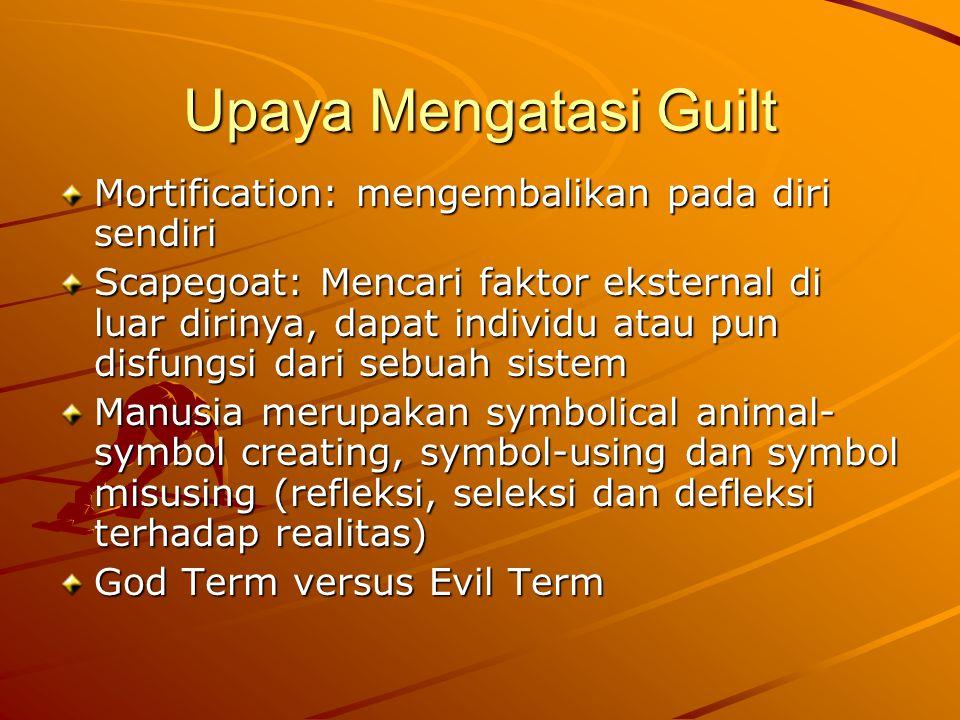 Upaya Mengatasi Guilt Mortification: mengembalikan pada diri sendiri
