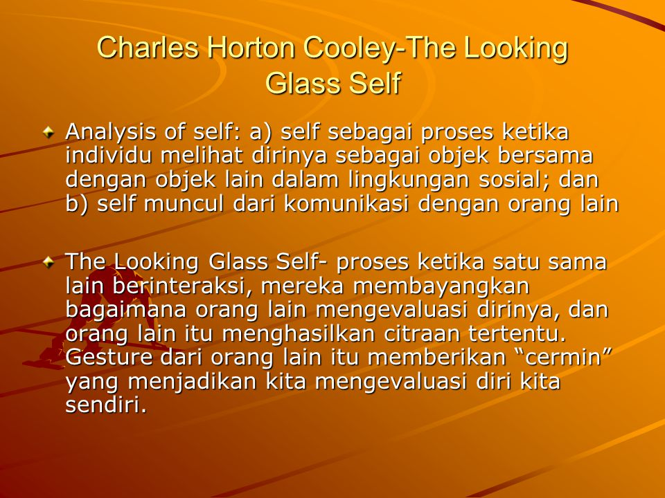 Charles Horton Cooley-The Looking Glass Self