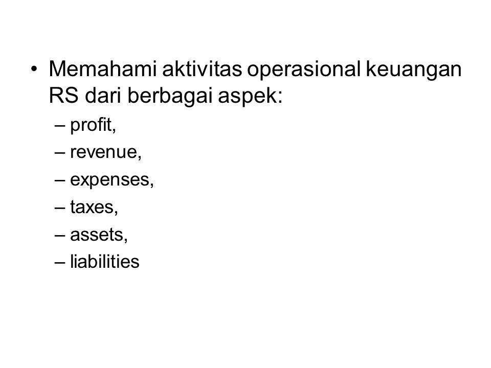 Memahami aktivitas operasional keuangan RS dari berbagai aspek: