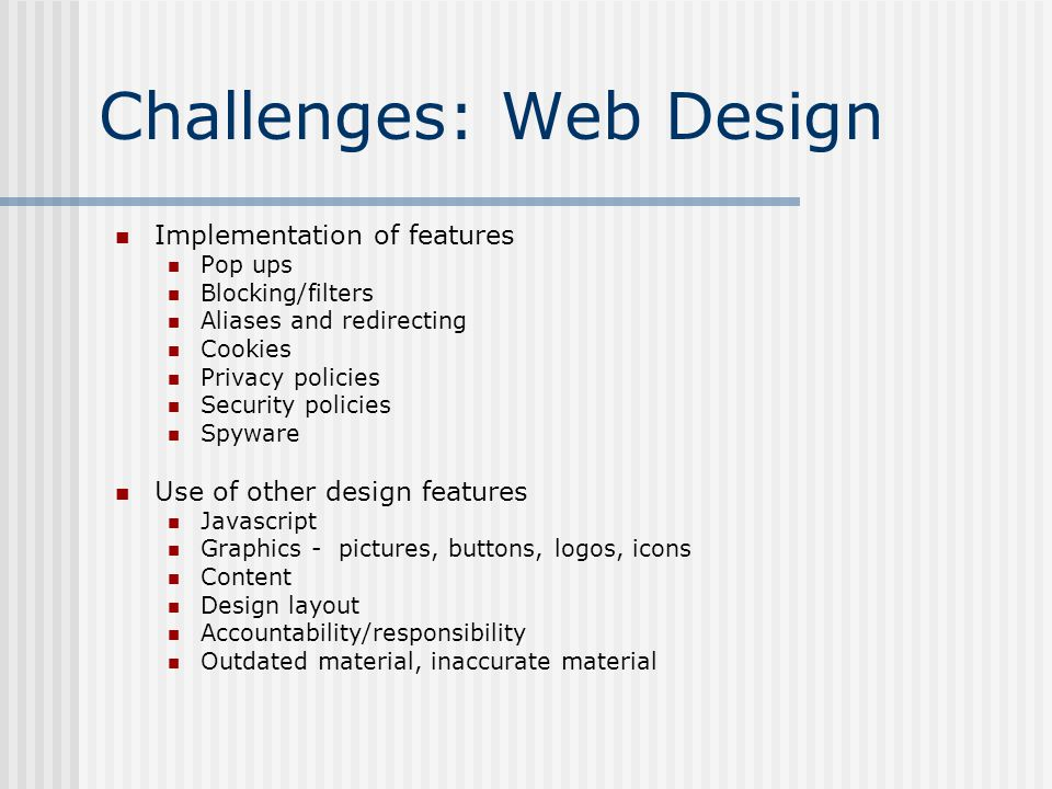 Challenges: Web Design