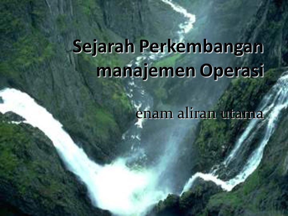 Sejarah Perkembangan manajemen Operasi