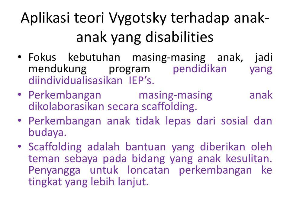 Aplikasi teori Vygotsky terhadap anak-anak yang disabilities
