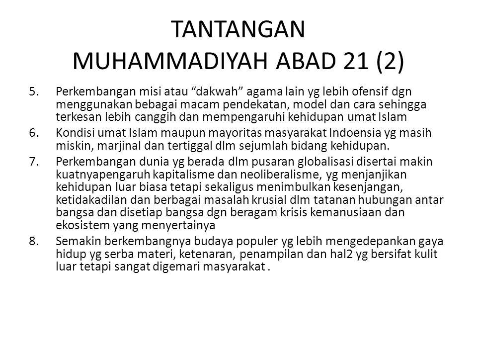 TANTANGAN MUHAMMADIYAH ABAD 21 (2)