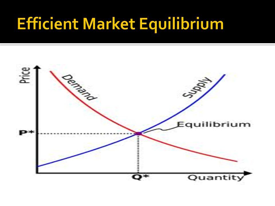 Efficient Market Equilibrium