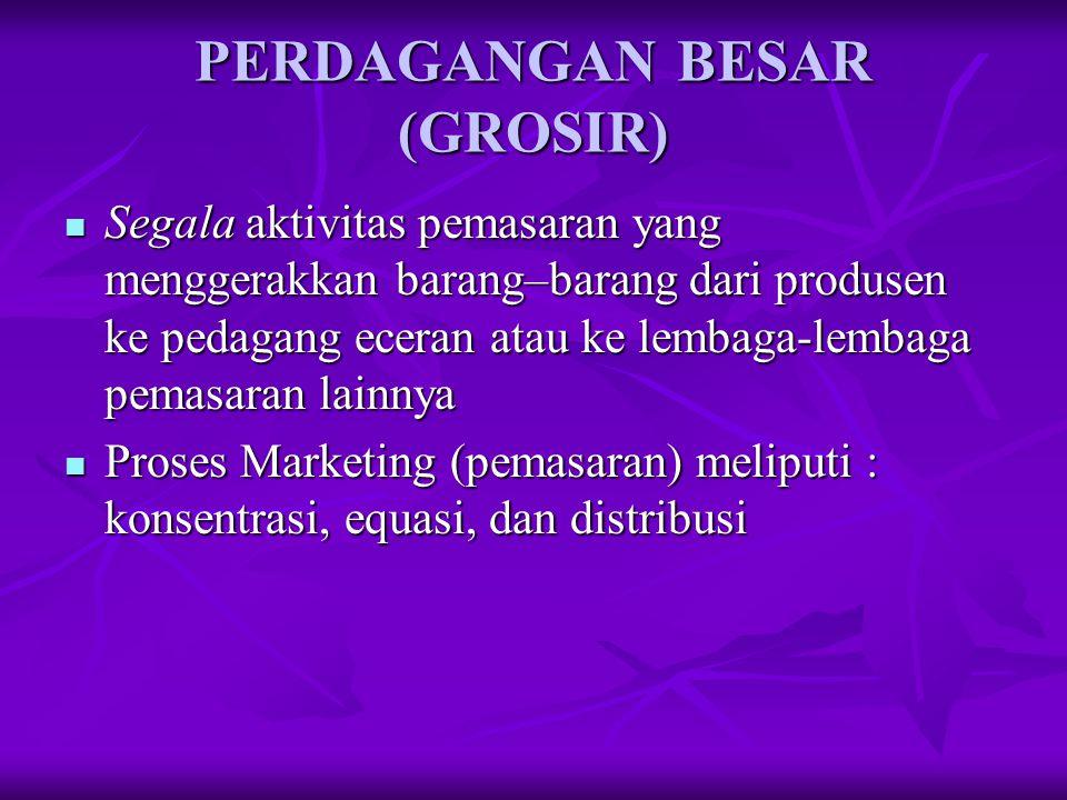 PERDAGANGAN BESAR (GROSIR)