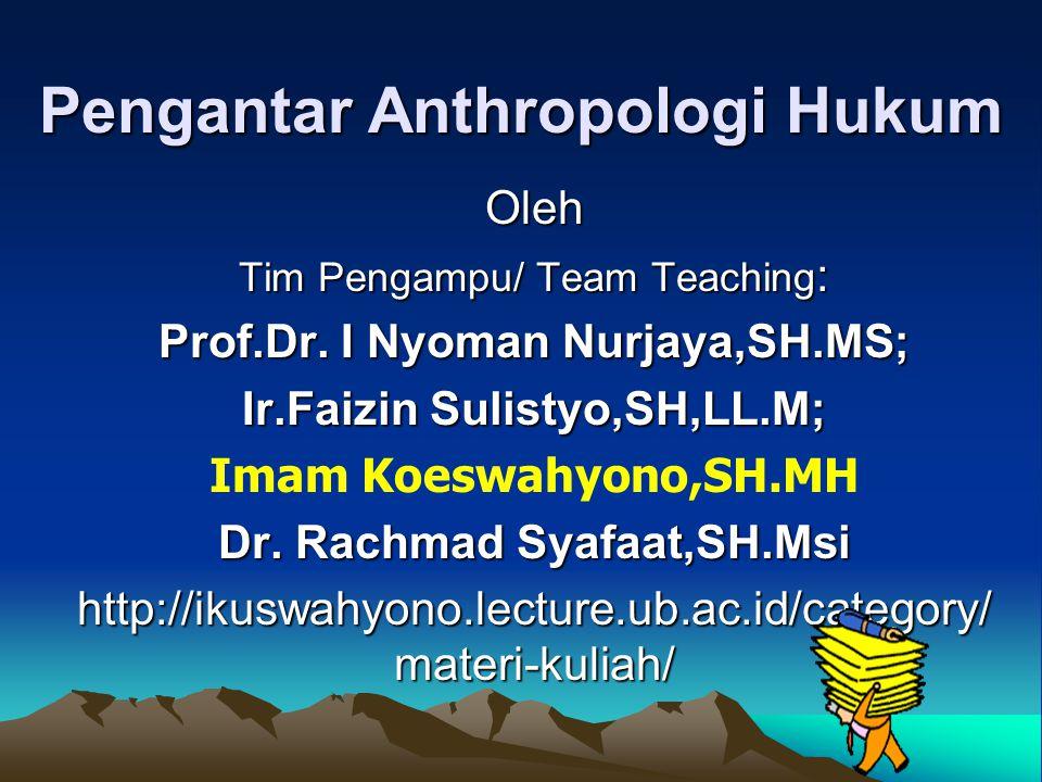 Pengantar Anthropologi Hukum