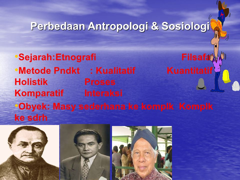 Perbedaan Antropologi & Sosiologi