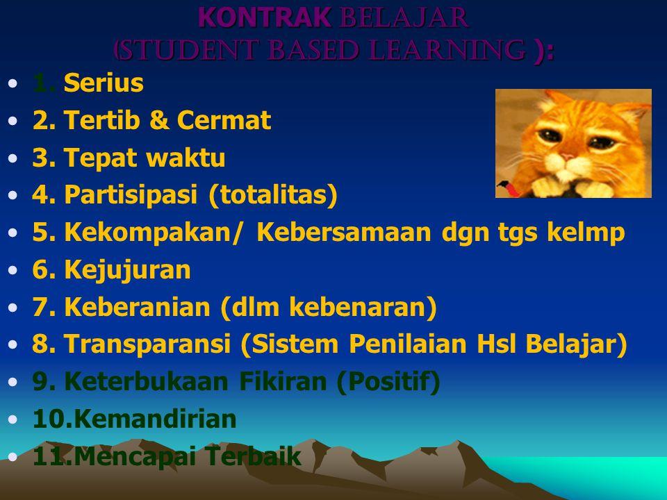 KONTRAK BELAJAR (Student Based LEARNING ):