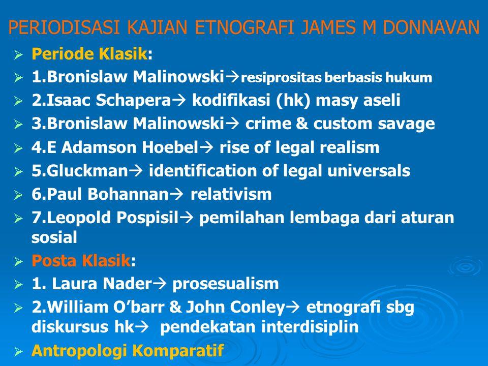 PERIODISASI KAJIAN ETNOGRAFI JAMES M DONNAVAN