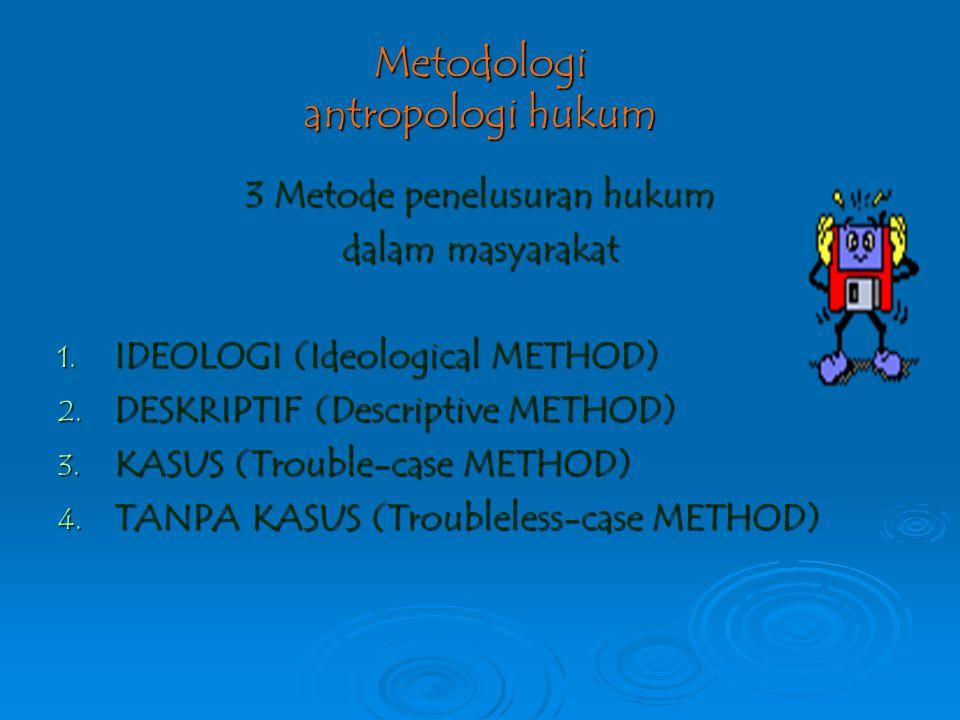 Metodologi antropologi hukum