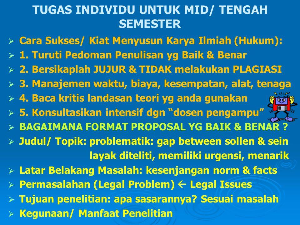 TUGAS INDIVIDU UNTUK MID/ TENGAH SEMESTER