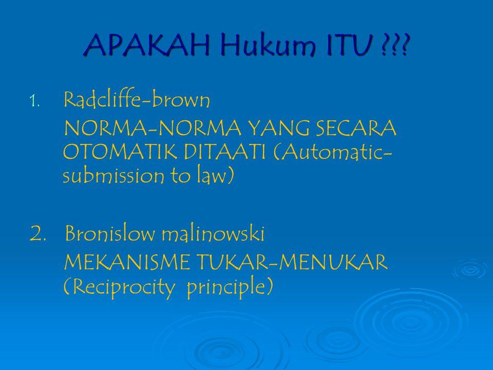 APAKAH Hukum ITU Radcliffe-brown
