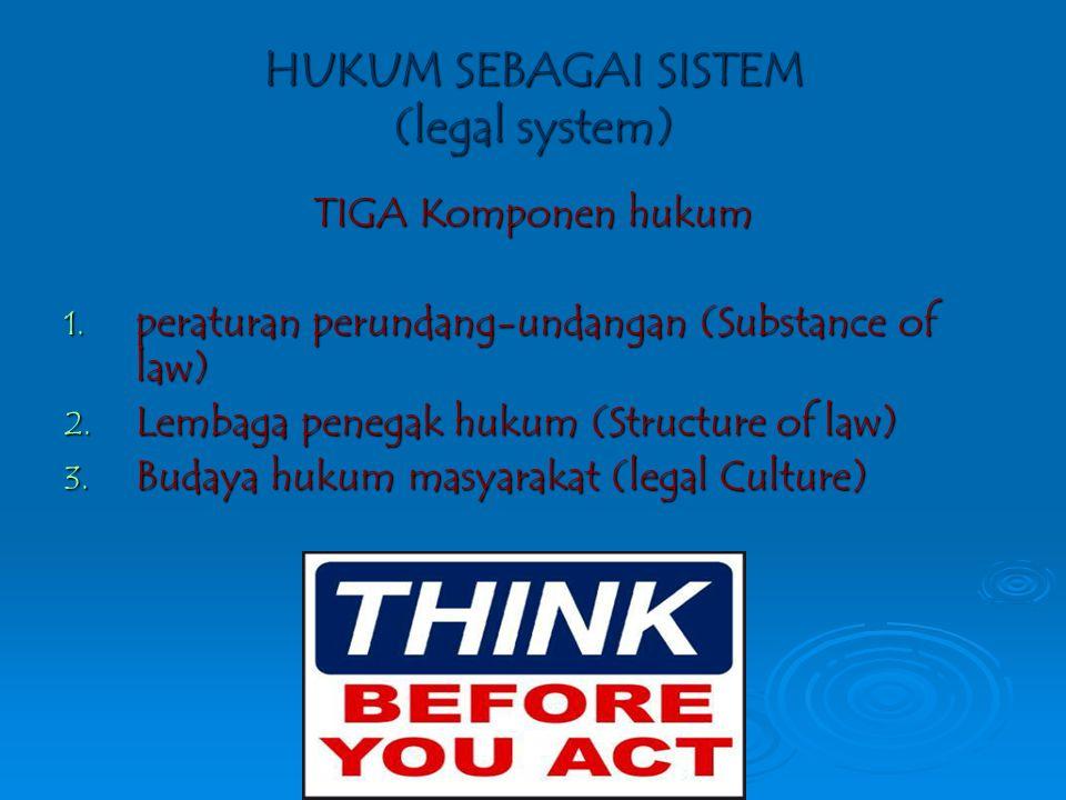 HUKUM SEBAGAI SISTEM (legal system)