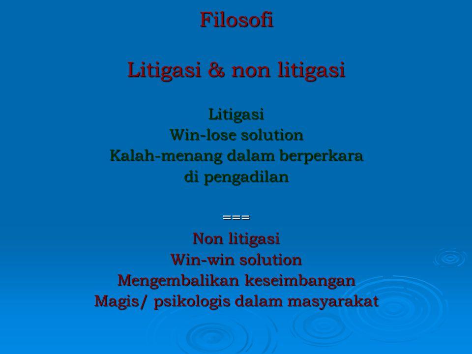 Filosofi Litigasi & non litigasi