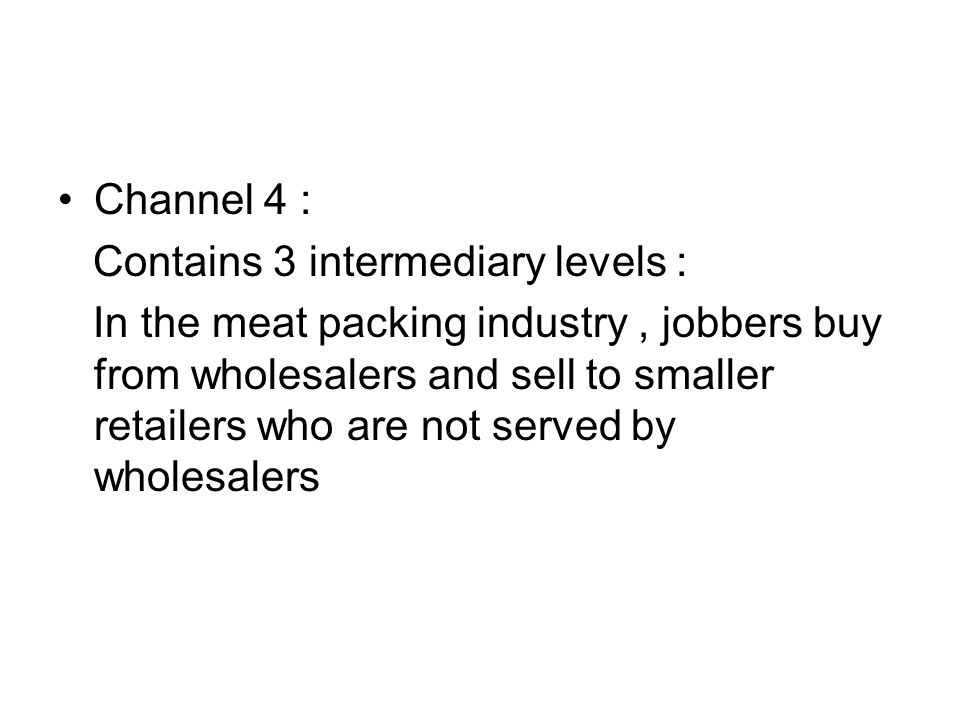Channel 4 : Contains 3 intermediary levels :