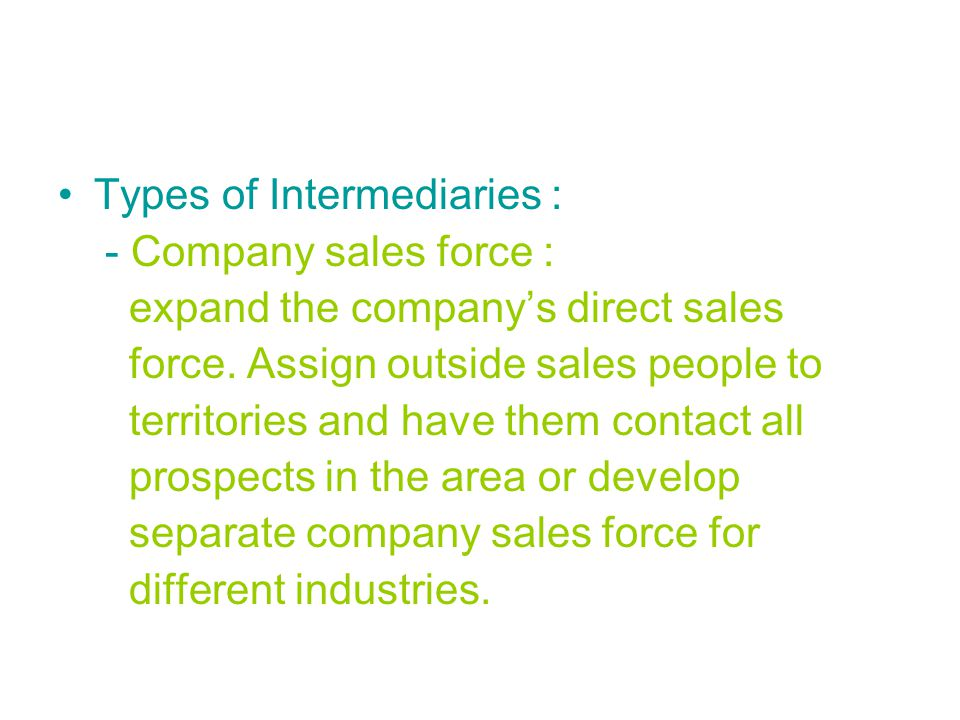 Types of Intermediaries :