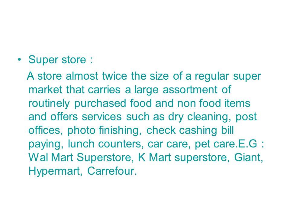 Super store :