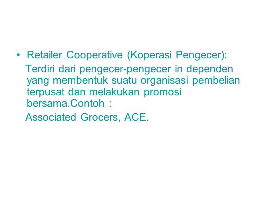 Retailer Cooperative (Koperasi Pengecer):