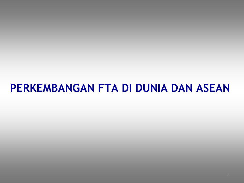 PERKEMBANGAN FTA DI DUNIA DAN ASEAN