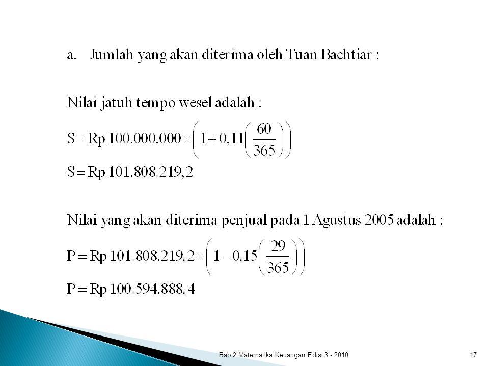 Bab 2 Matematika Keuangan Edisi 3 - 2010