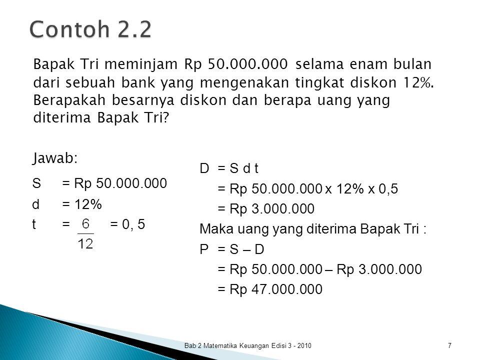 Contoh 2.2