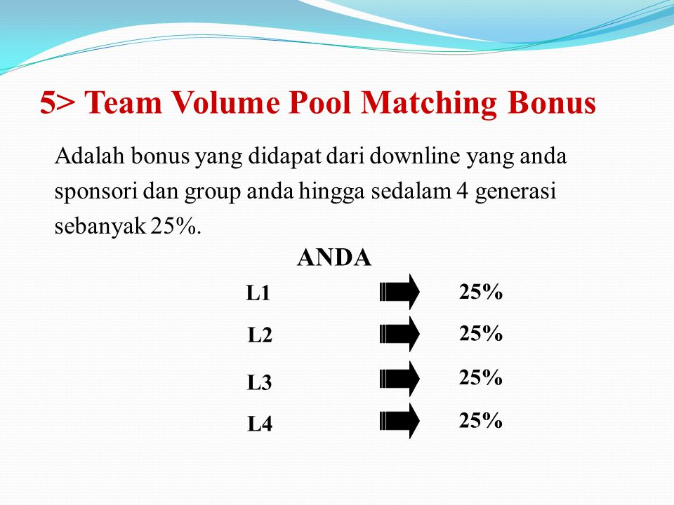 5> Team Volume Pool Matching Bonus