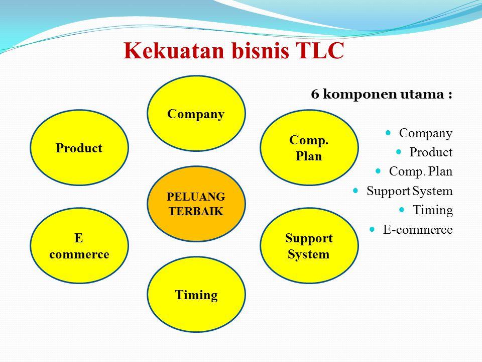 Kekuatan bisnis TLC Company 6 komponen utama : Company Product