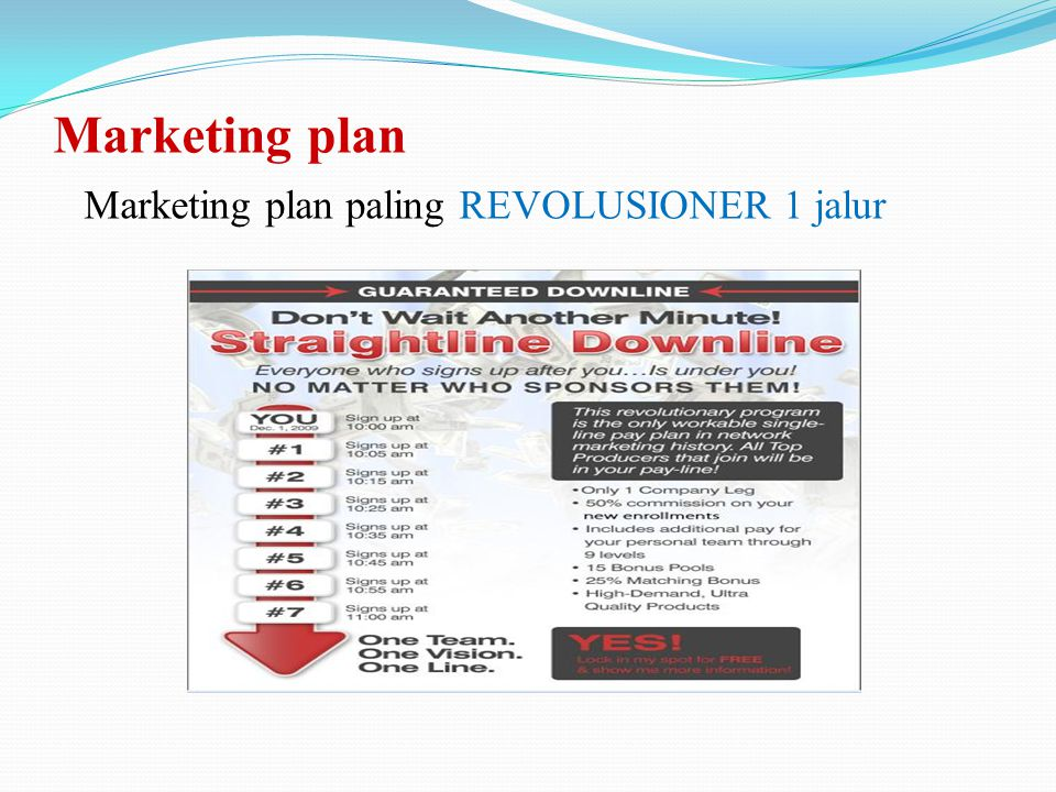 Marketing plan Marketing plan paling REVOLUSIONER 1 jalur