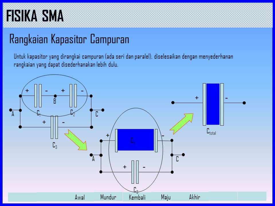 Rangkaian Kapasitor Campuran