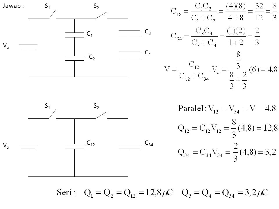 Jawab : C1 C2 S1 S2 Vo C3 C4 C12 C34 S1 S2 Vo