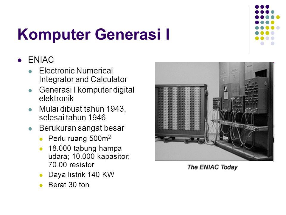 Komputer Generasi I ENIAC