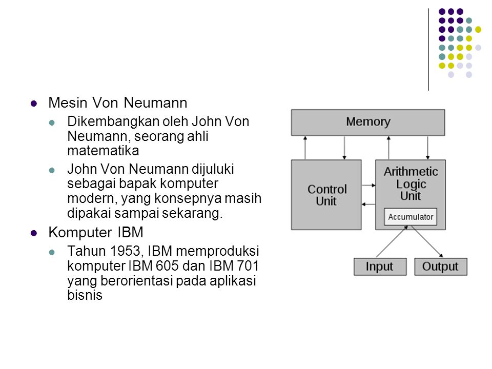 Mesin Von Neumann Komputer IBM