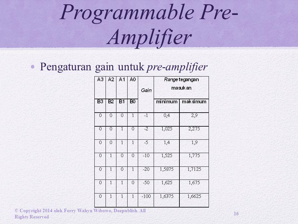 Programmable Pre-Amplifier
