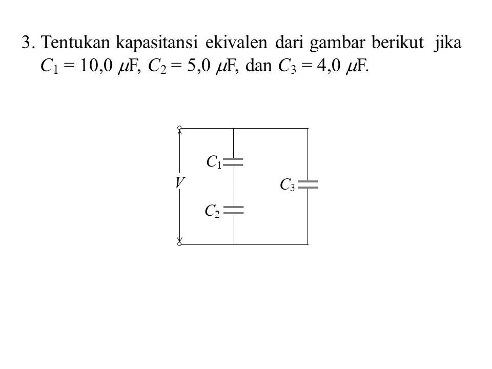 3. Tentukan kapasitansi ekivalen dari gambar berikut jika