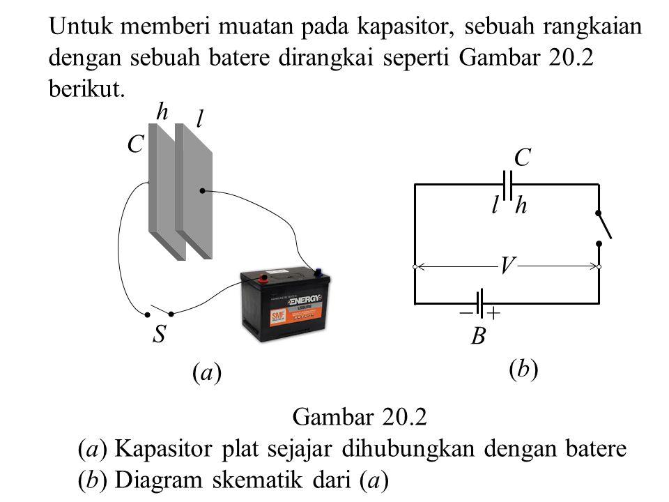 Untuk memberi muatan pada kapasitor, sebuah rangkaian