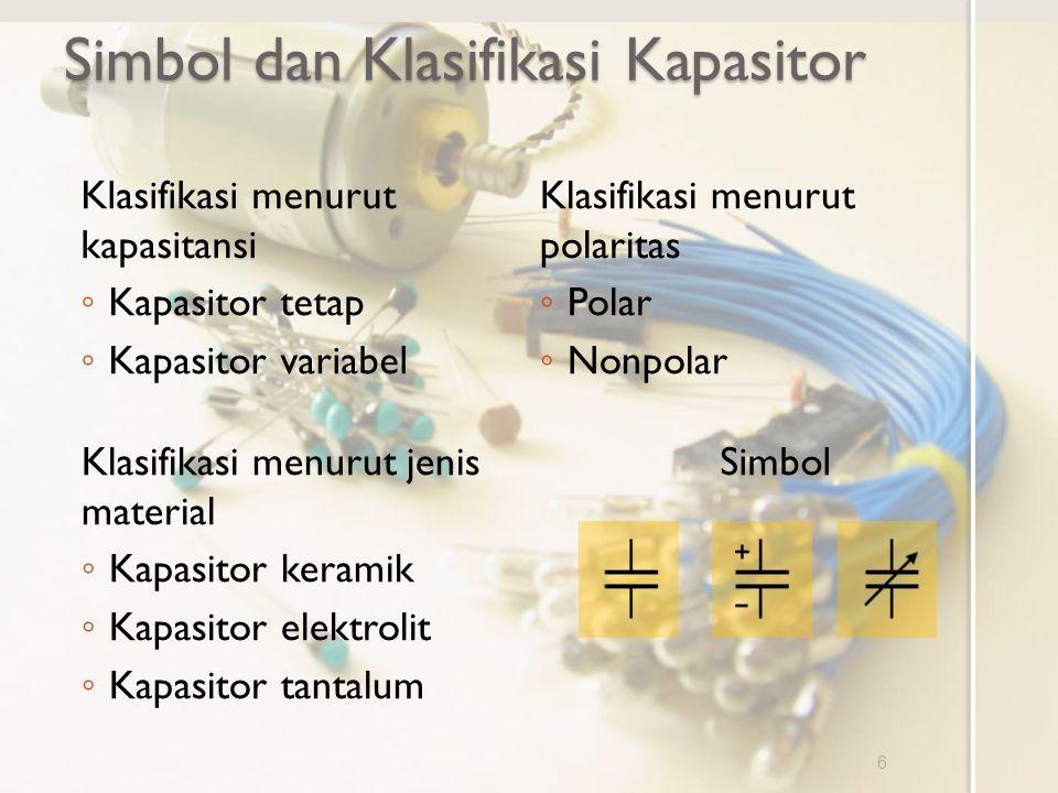 Simbol dan Klasifikasi Kapasitor