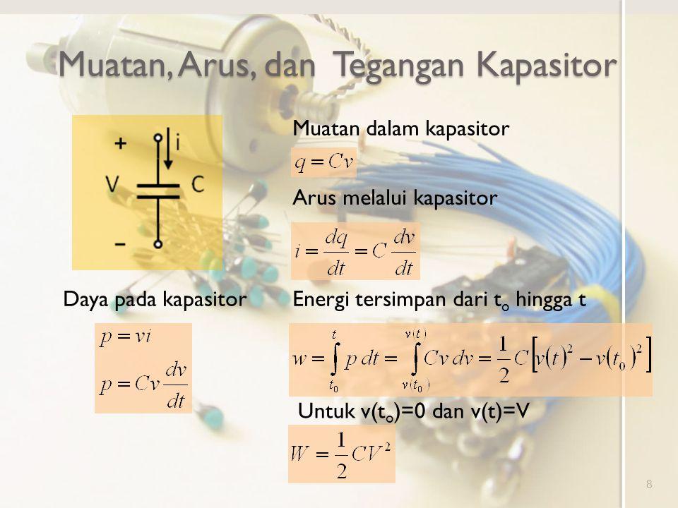 Muatan, Arus, dan Tegangan Kapasitor