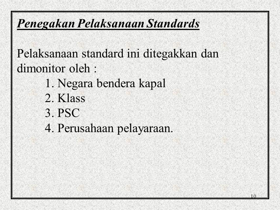 Penegakan Pelaksanaan Standards