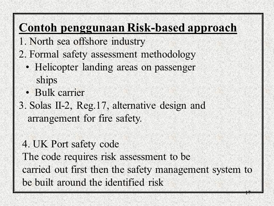 Contoh penggunaan Risk-based approach