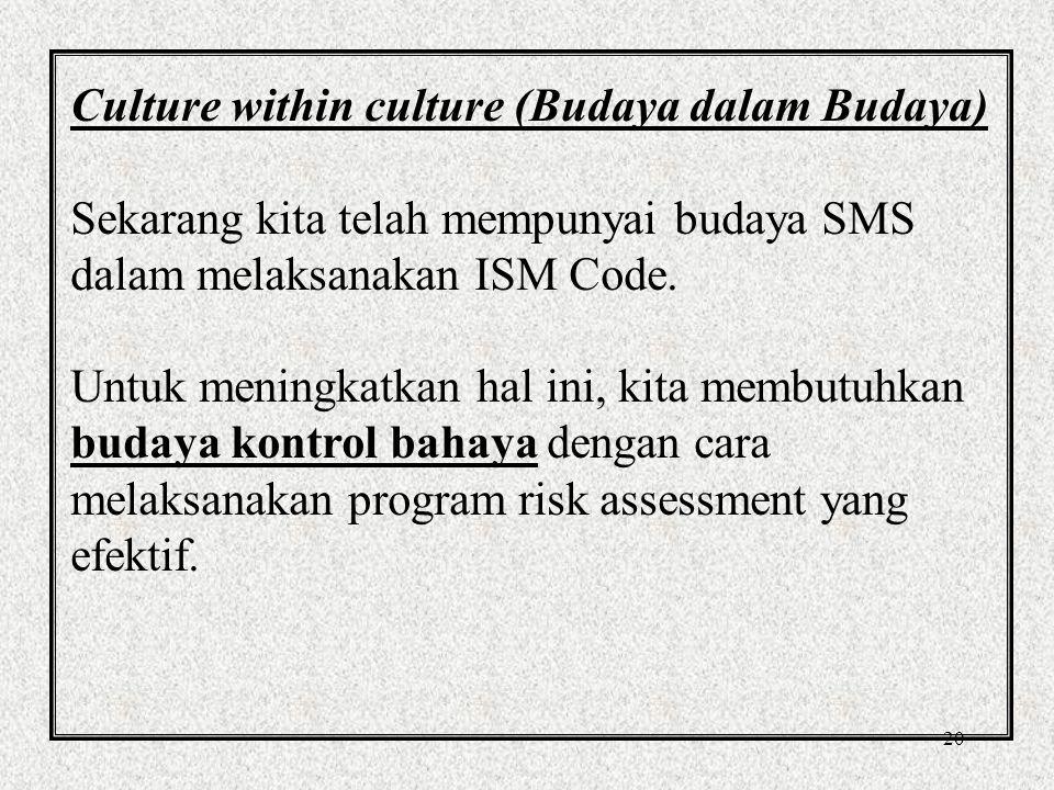 Culture within culture (Budaya dalam Budaya)