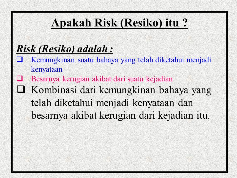 Apakah Risk (Resiko) itu