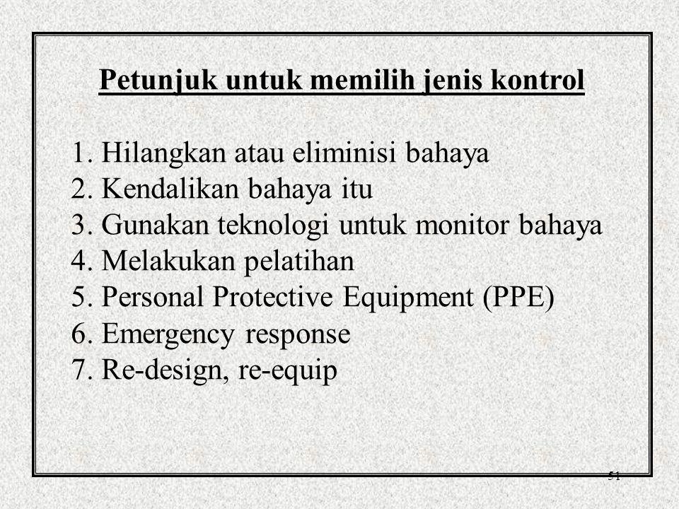 Petunjuk untuk memilih jenis kontrol