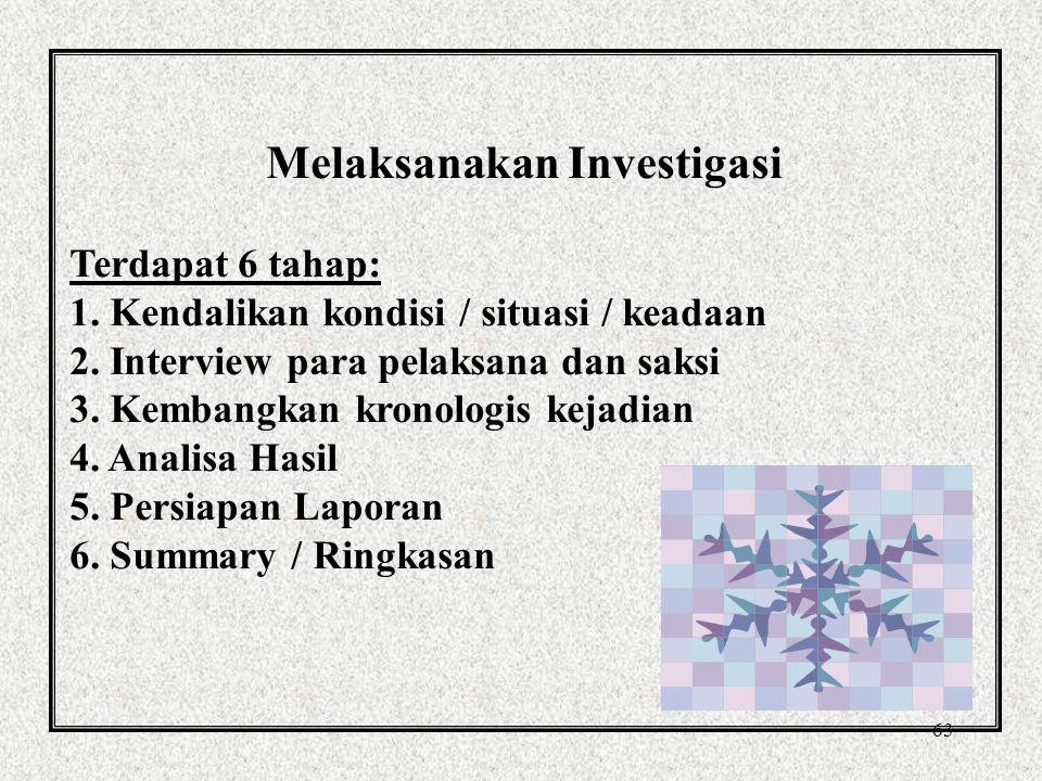Melaksanakan Investigasi