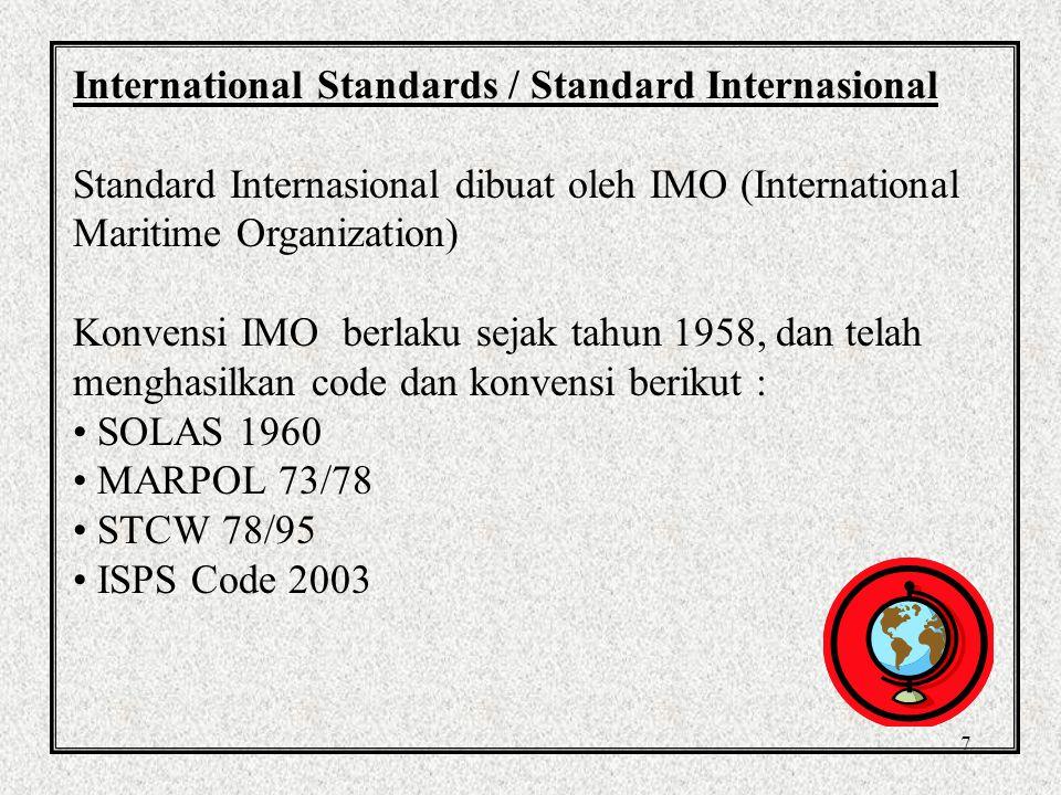 International Standards / Standard Internasional
