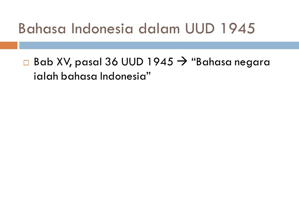 Bahasa Indonesia dalam UUD 1945