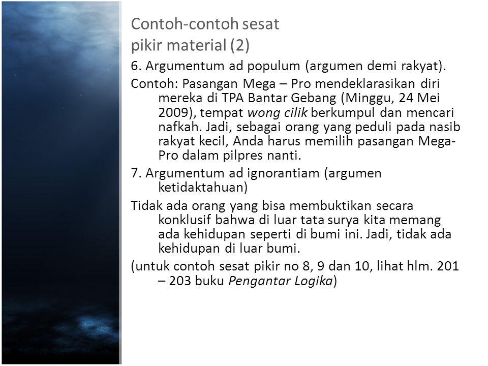 Contoh-contoh sesat pikir material (2)