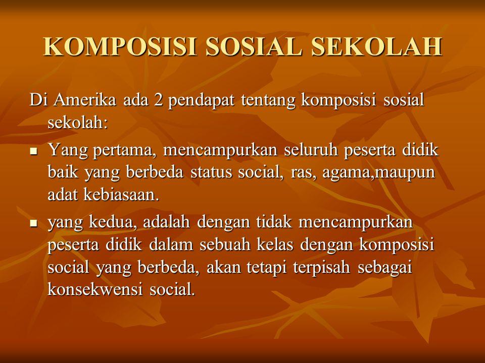 KOMPOSISI SOSIAL SEKOLAH