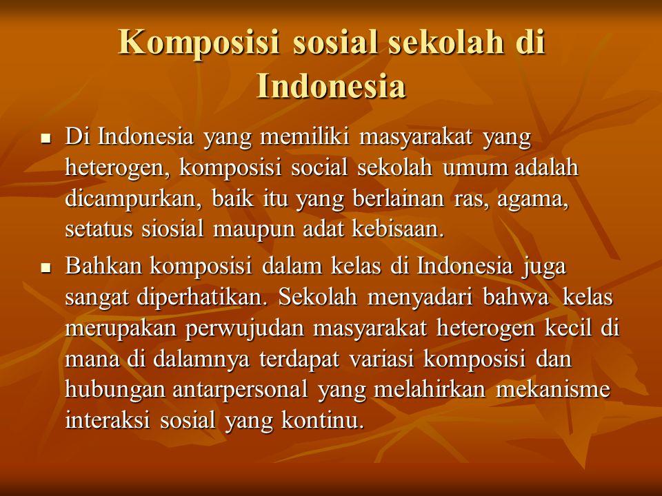 Komposisi sosial sekolah di Indonesia