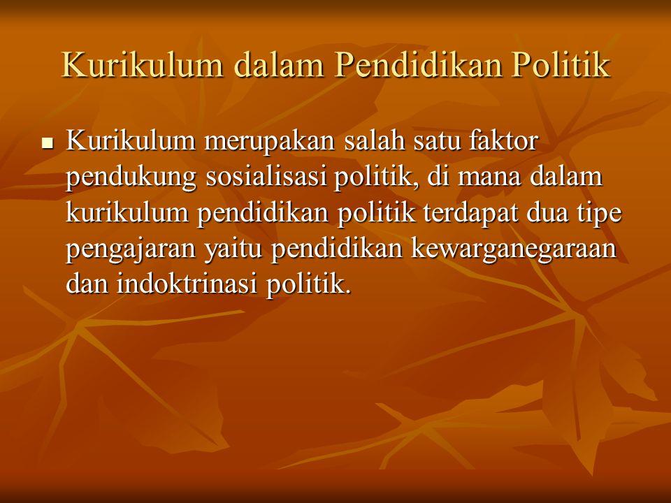 Kurikulum dalam Pendidikan Politik